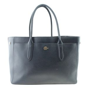 Coach Bailey Carryall Blue Leather Tote 167569
